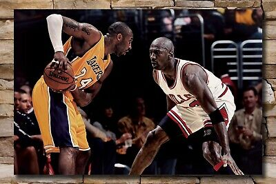 New Kobe Bryant VS Michael Jordan Basketball MVP 24x36 14x21 Silk Poster 765