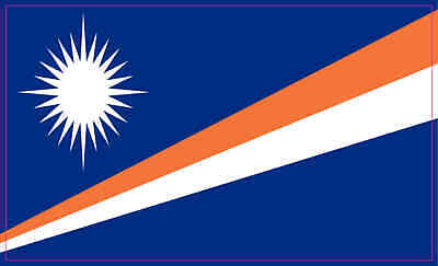 """Decals x4 Vinyl Stickers MARSHALL ISLANDS Flying Flag Micronesia 50mm 2/"""""""