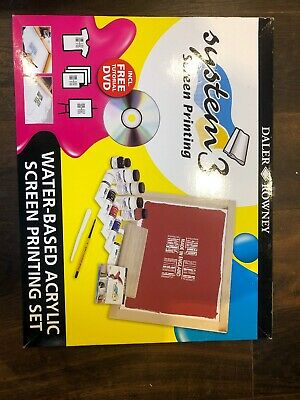 Daler Rowney System 3 Water based Acrylic Screen Printing Set