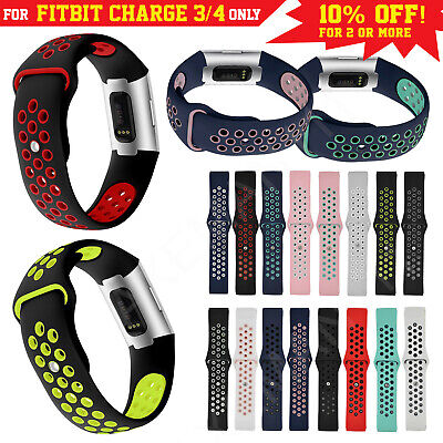 For Fitbit Charge 3 Band Watch Strap Replacement Soft Silicone Sports Bracelet