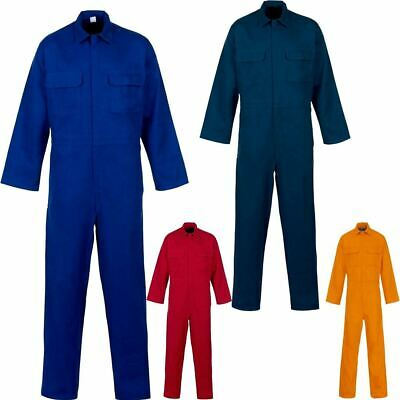 Adults Plain Basic Coverall Cotton Suit Mens Long Sleeve Word Wear Tracksuit