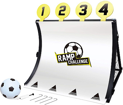Rexco Football Training System Goal Posts Childrens Kids 4 In 1 Target Shot Net