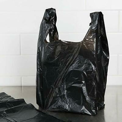 T-Shirt Black Plastic Grocery Store Shopping Carry Out Bags 1000ct