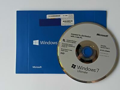 Genuine Microsoft Windows 7 Ultimate 64 bit OS Full System Disk Only