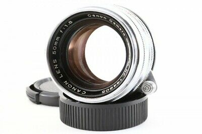 Canon 50mm F/1.8 chrome Lens Leica Screw Mount LTM L39 from Japan 144605 Exc++