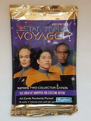 Star Trek Voyager - Series Two - Skybox Trading Cards EMPTY Packet/Wrapper #W112