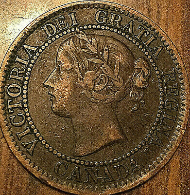 1859 CANADA LARGE CENT PENNY LARGE 1 CENT COIN - Nicer example!