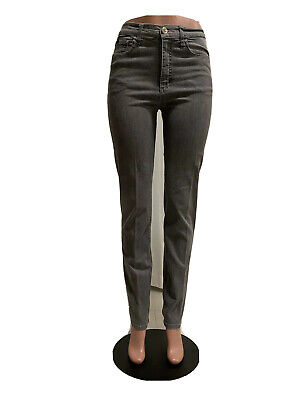 Lee Classic Fit At The Waist Stretch Gray Jeans Women's Size 6 Long