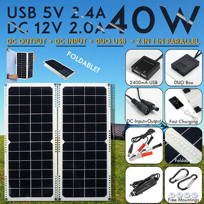 40W 12V Car Boat Yacht Solar Panel Trickle Battery Charger Power Supply Outdoor