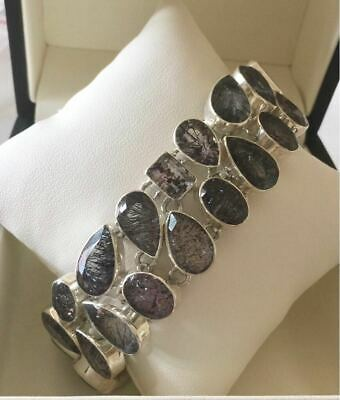 Sterling Silver with Genuine Semi Precious Cacoxenite Bracelet