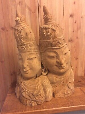 Carved Rustic Wooden Buddah