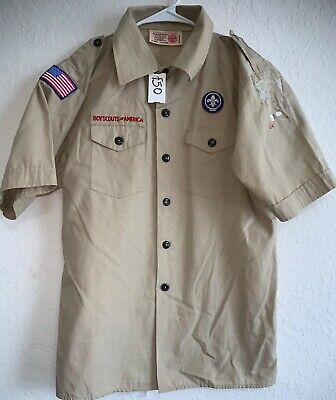 Boy Scouts of America BSA Youth Short Sleeve Poplin Shirt Size Youth Large