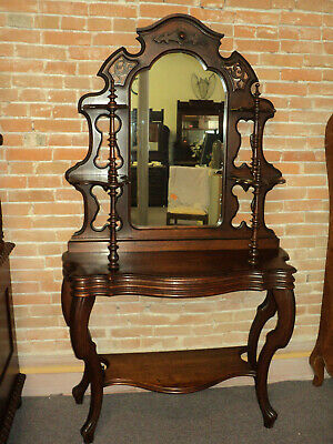 Antique Walnut American Victorian Mirrored Etagere, Whatnot Shelf, 1880's