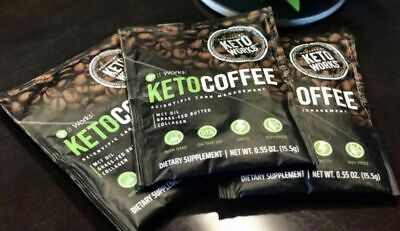 It Works! KETO COFFEE 17 Single Serving Packets FRESH SEALED