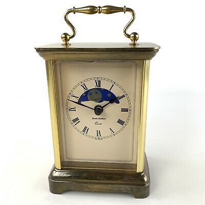 Brooks Brothers Carriage Clock Quarts Moon Phase