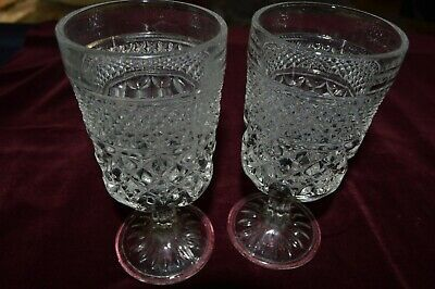 Set of 2 Wexford by Anchor Hocking Water Goblets