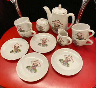 Holly Hobby Vintage 13 Pc Miniature Tea Set