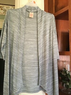 Girls Size (S) 6-6X Gray Shrug / Flyaway Cardigan,3/4 Sleeve by Faded Glory NWT