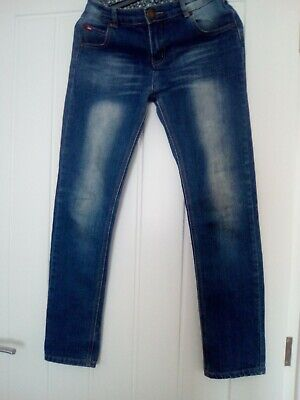 Girls Lee Cooper Distressed Look Straight Jeans Age 13