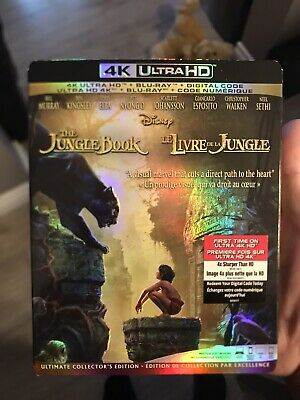 Jungle Book Live Action 4K + Blu Ray + Digital New And Sealed With Slip Cover