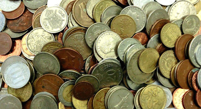 Huge Mixed Bulk Lot Of 100 Assorted World/Foreign Coins!