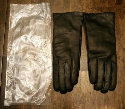 EUC Sermoneta Gloves Genuine Leather Gloves Cashmere Lined Italy Made -8