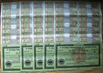 Sequential with coupons. German 1,000,000,000 Billion Marks bond 1923.