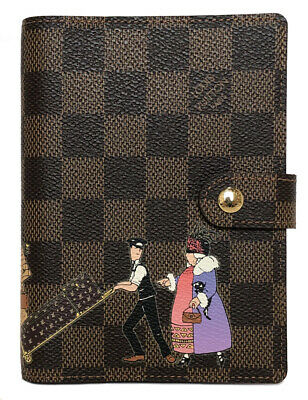 Authentic LOUIS VUITTON Agenda PM R21128 Damier schedule planner diary print