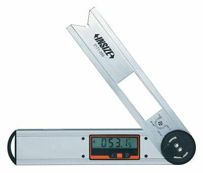 """Insize Electronic Digital Protractor,  Non Graduated,  0° to 360°,  10"""" Length"""