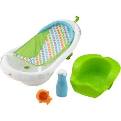 Fisher Price 4-in-1 Sling 'n Seat Tub with Adjustable Support, Green