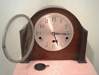 Vintage Smiths Enfield Mantel Clock with Westminster Chimes