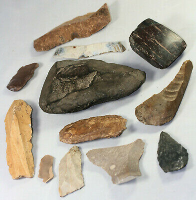 Flint or stone axes and tools - possibly ancient