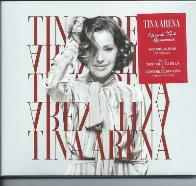 CD Tina Arena Quand Tout recommence Neuf sous cellophane