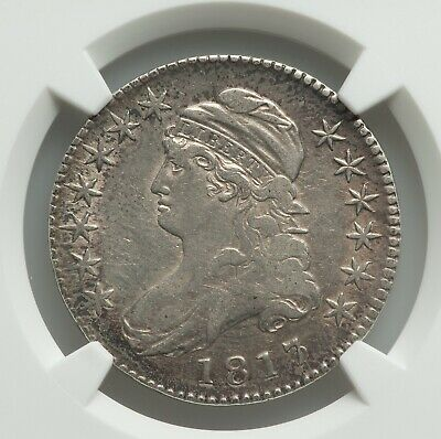 1817/3 Capped Bust Half Dollar, O-101a, Lustrous NGC VF-35