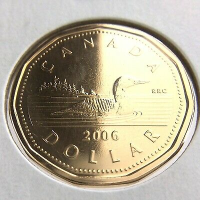 2012-M Canadian Brilliant Uncirculated Business Strike $1 Loonie coin!
