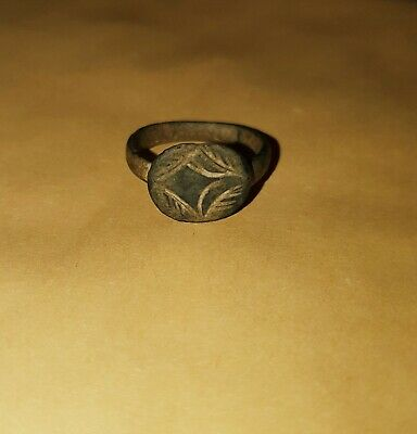 Ancient Late Roman / Byzantine Ring With Star 400 Ad
