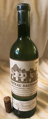 Vintage (1957) Haut-Brion Wine Bottle (EMPTY) w/Original Cork