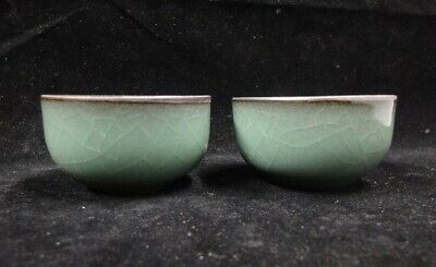 Pair of Rare Fine Old Chinese Porcelain Cups Perfect Condition!