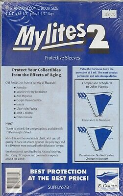 Mylites 2 Protective Sleeves (Pack of 50)
