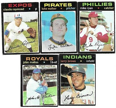 Topps Baseball Cards 1971 Commons Semi-High Nos Complete Your Set You Pick 5 EM