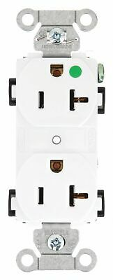 Bryant 20,  Hospital Grade,  Receptacle,  White,  No Tamper Resistant White