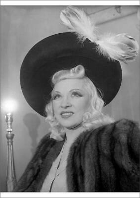 """Mae West /""""You Only Live Once/"""" Quote Poster Print 7/""""x21/"""" On Matte Canvas"""