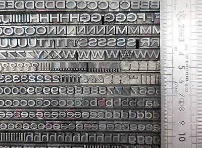 Gothic wide type 20 pt, lead type, Letterpress type