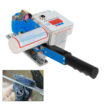 Fabric Cloth Cutter w/ Digital Counter Clothing Tool Auto Sharpening Blade 105mm