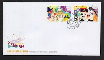Cyprus 2019 Carnival Mnh Set Stamps On Fdc Combined Shipping