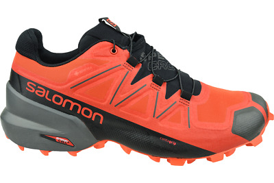 Salomon Spikecross 5 GTX Men's Trail Shoes BlackRacing Red