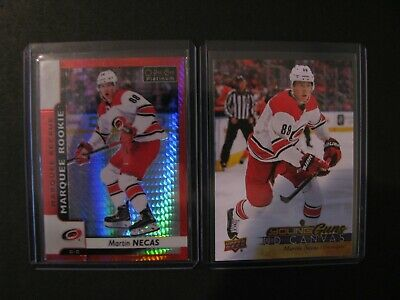 🔥2017-18 Martin Necas Young Guns Ud Canvas Rookie + Opc Platinum Red Prism /199