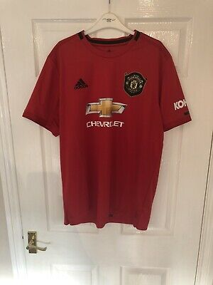 MAN UTD ADIDAS HOME SHIRT SIZE XL 2019/20 Brand New Without tags