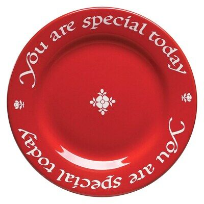 "1 New Waechtersbach ""You Are Special Today"" Famous Red Plate Germany, Birthday"