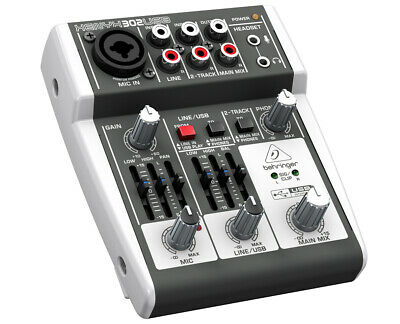 Behringer 302USB 5-Input Mixer with XENYX Mic Preamp USB and Audio Interface